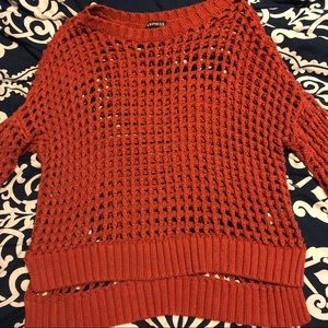 Express Copper color wide knit sweater